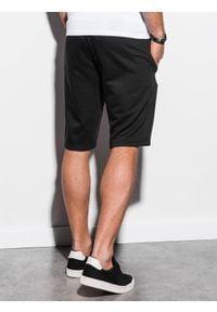 Ombre Clothing - Krótkie spodenki męskie dresowe W239 - czarne - XXL. Okazja: na co dzień. Kolor: czarny. Materiał: dresówka. Długość: krótkie. Wzór: nadruk. Sezon: wiosna, lato. Styl: klasyczny, casual #3