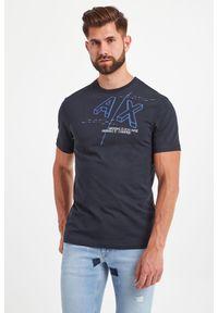 T-shirt Armani Exchange elegancki, w kolorowe wzory