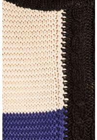 Czarny sweter ANSWEAR z golfem