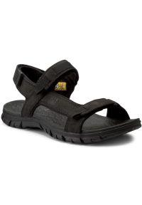 Czarne sandały CATerpillar na lato