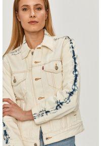 Biała kurtka Levi's® casualowa, na spotkanie biznesowe