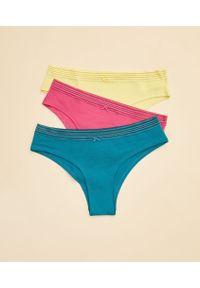 Come Majtki Hipster - Komplet 3 Pary - Xl - Fuksja - Etam. Kolor: różowy. Materiał: bawełna, koronka, materiał. Wzór: koronka, aplikacja