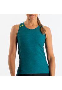 TRIBAN - Koszulka Bez Ręk. 500 Damska. Materiał: poliester, poliamid, materiał, elastan. Długość rękawa: bez rękawów