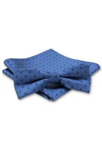 Niebieska muszka Alties w grochy, elegancka