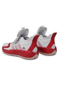 Białe półbuty Adidas z cholewką, sportowe #6