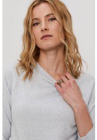 Niebieski sweter Vero Moda raglanowy rękaw, gładki, na co dzień