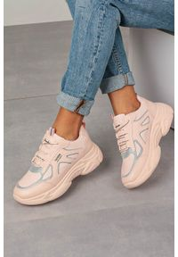 Różowe buty sportowe Casu na co dzień