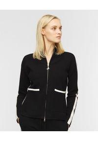Deha - DEHA - Czarny dzianinowy sweter. Kolor: czarny. Materiał: dzianina. Styl: sportowy, klasyczny, elegancki