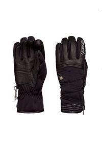 Czarna rękawiczka sportowa Reusch narciarska, na zimę, Primaloft