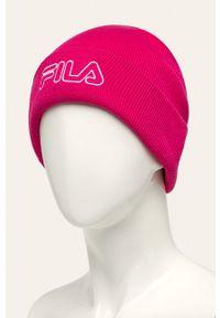Różowa czapka Fila