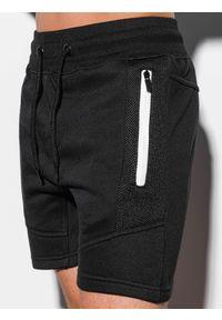 Czarne szorty Ombre Clothing z aplikacjami, krótkie