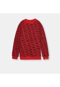 Czerwona bluza Sinsay z nadrukiem