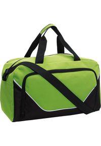 PELLUCCI Torba sportowa, JORDAN, Czarny / Zielony uniwersalny. Kolor: wielokolorowy, zielony, czarny