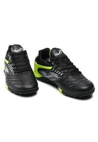 Joma - Buty JOMA - Maxima 2101 MAXS2101TF Black Lemon Fluor Turf. Kolor: czarny. Materiał: materiał. Szerokość cholewki: normalna. Sport: piłka nożna