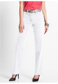 Białe jeansy bonprix z aplikacjami