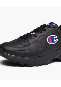 Champion - CHAMPION - Sneakersy ze skóry Rochester. Kolor: czarny. Materiał: skóra. Wzór: napisy, haft, aplikacja