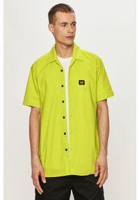 CATerpillar - Caterpillar - Koszula. Okazja: na co dzień. Kolor: żółty, zielony, wielokolorowy. Materiał: tkanina. Długość rękawa: krótki rękaw. Długość: krótkie. Wzór: gładki. Styl: klasyczny, casual #5