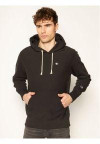 Champion Bluza Reverse Weave Hoodie 214675 Czarny Custom Fit. Kolor: czarny