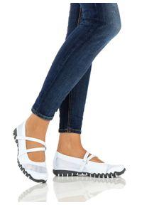 Białe buty sportowe bonprix na rzepy