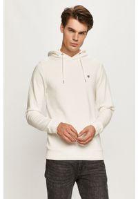 Biała bluza nierozpinana Premium by Jack&Jones z kapturem, na co dzień, casualowa
