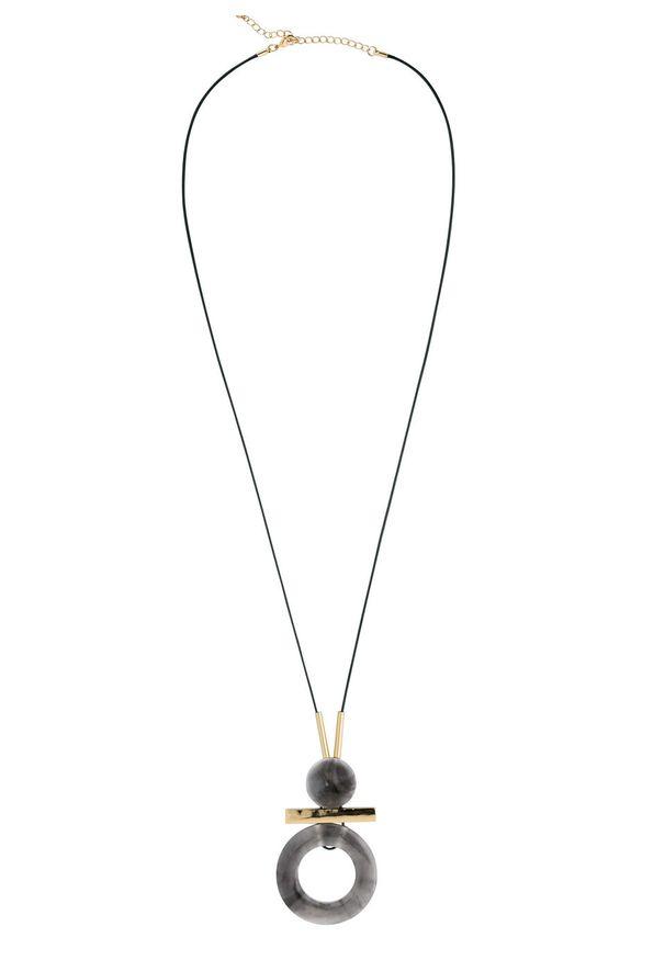 Długi łańcuszek bonprix szaro-złoty kolor