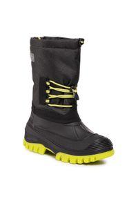 Czarne buty zimowe CMP na spacer, z cholewką