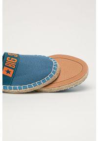 Big-Star - Big Star - Espadryle. Nosek buta: okrągły. Kolor: niebieski. Materiał: guma. Obcas: na obcasie. Wysokość obcasa: niski