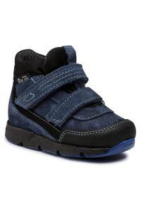 RenBut - Trzewiki RENBUT - 13-1552 Jeans. Kolor: niebieski. Materiał: skóra, zamsz. Szerokość cholewki: normalna. Sezon: zima, jesień