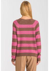 Sweter Weekend Max Mara z długim rękawem, krótki, na spacer