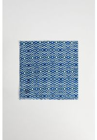 Mango Man - Chusta TIE. Kolor: niebieski. Materiał: tkanina, materiał