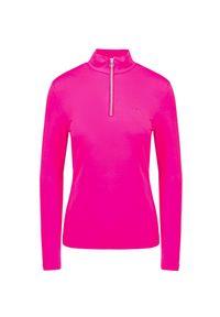 Różowa koszulka polo Chervo na zimę, na spacer, z golfem