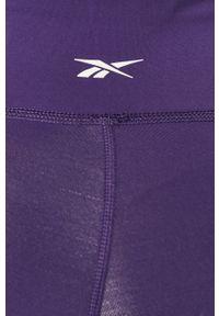 Fioletowe legginsy Reebok z podwyższonym stanem, gładkie