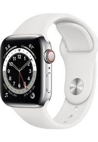 APPLE - Smartwatch Apple Watch Series 6 GPS + Cellular 44mm Silver Steel White Sport Biały (M09D3WB/A). Rodzaj zegarka: smartwatch. Kolor: biały. Styl: sportowy