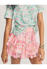 LOVE SHACK FANCY - Mini spódnica Femme. Kolor: wielokolorowy, różowy, fioletowy. Materiał: tkanina, jedwab, bawełna