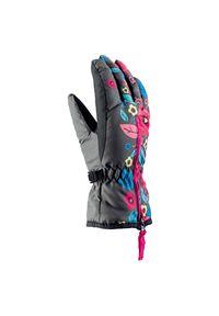 Rękawice Viking Poppy Jr 120170095. Materiał: włókno, materiał. Wzór: kwiaty, aplikacja