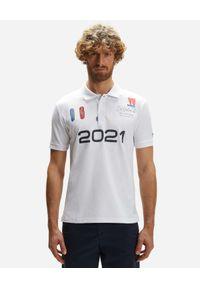 North Sails - NORTH SAILS - Biała koszulka polo Saint-Tropez. Typ kołnierza: polo. Kolor: biały. Materiał: bawełna. Wzór: haft, aplikacja