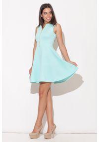Zielona sukienka rozkloszowana Katrus #1