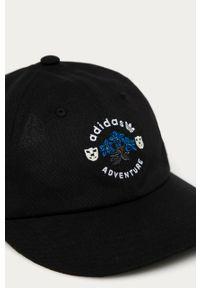 Czarna czapka z daszkiem adidas Originals gładkie