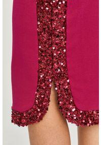 Fioletowa spódnica Liu Jo na co dzień, z aplikacjami