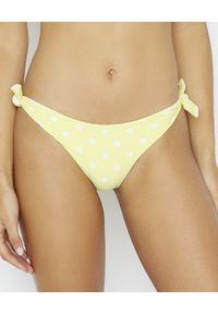 BEACH BUNNY - Dół od bikini Layla. Kolor: żółty. Materiał: materiał. Wzór: kropki