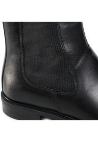 Czarne botki vagabond na obcasie, na średnim obcasie