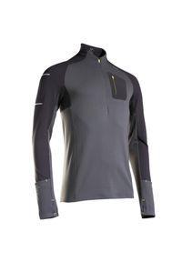 KIPRUN - Koszulka do biegania z długim rękawem męska Kiprun Warm Light cienka ocieplana. Materiał: poliester, materiał, elastan. Długość rękawa: długi rękaw. Długość: długie. Sezon: zima. Sport: fitness