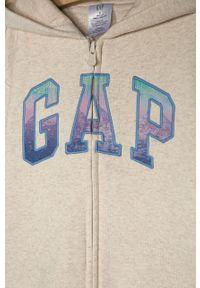 Beżowa bluza rozpinana GAP casualowa, na co dzień
