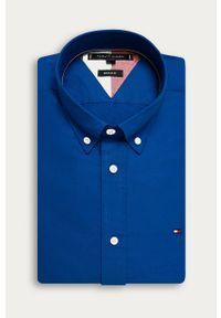 Niebieska koszula TOMMY HILFIGER casualowa, button down, na co dzień