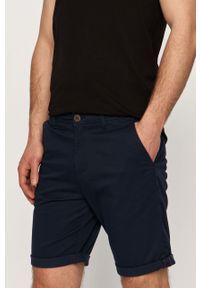 Niebieskie szorty Jack & Jones gładkie, casualowe