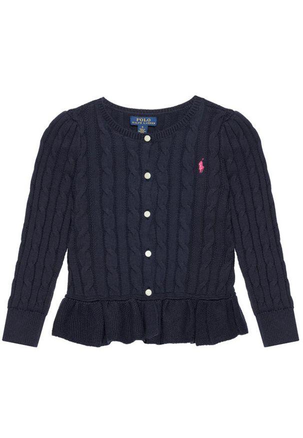 Polo Ralph Lauren Sweter Peplum Cardi 312737911005 Granatowy Regular Fit. Typ kołnierza: polo. Kolor: niebieski