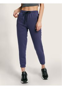 Fioletowe spodnie dresowe Diamante Wear petite