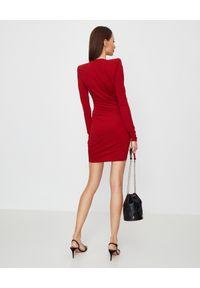 ALEXANDRE VAUTHIER - Czerwona sukienka mini. Kolor: czerwony. Materiał: materiał. Typ sukienki: dopasowane, kopertowe, asymetryczne. Styl: elegancki. Długość: mini