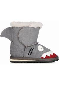 emu - EMU Śniegowce dziecięce Shark Walker Putty