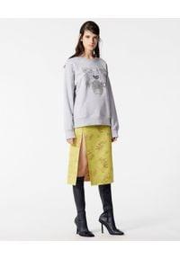 Kenzo - KENZO - Bluza z tygrysem. Okazja: na co dzień. Kolor: szary. Materiał: bawełna, jeans. Wzór: nadruk, aplikacja. Styl: klasyczny, casual